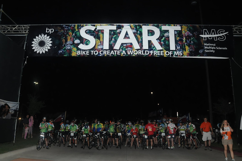 Tully Staduim Start.   I am not in this photo, I got a little edge help, our group started in Katy, TX.