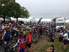 View from in front of our team tent, as riders que up for the start on Sunday morning, the 2nd day of the ride.