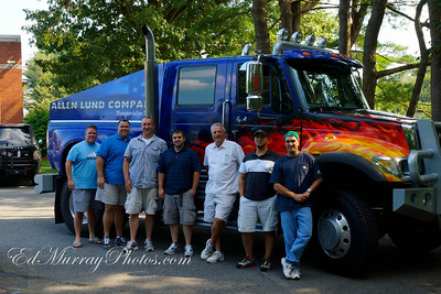 "Left to right: Chris ""CJ"" Wilson, Steve Gray, Jay Beckett, Eric Follo, Bill Bess, Chris Page, Ed Murray"