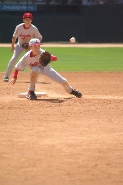 The ball is thrown to the 2nd Baseman...
