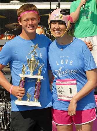 Pendleton Heights' Forrest Ockoman was the overall winner in the 5K Run.