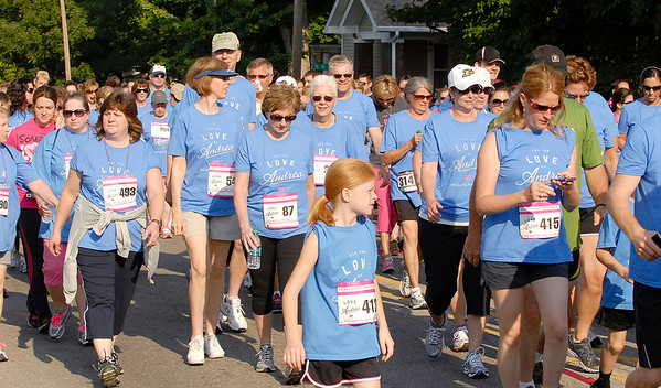 Walkers followed the runners at the 5K Run and Walk