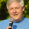 Keith Wooden delivers the benediction at the Big May 5K.