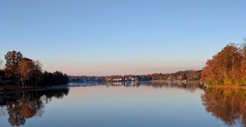 Sunrise over Landen Lake