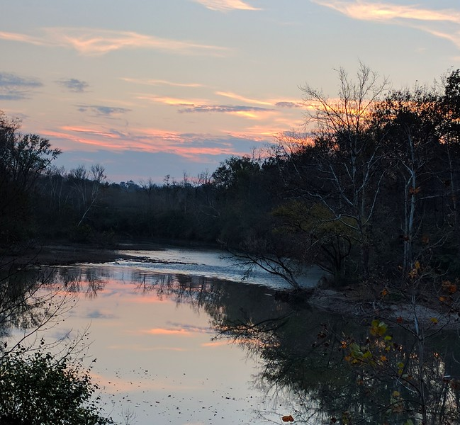Sunset near Loveland, OH along Little Miami bike trail