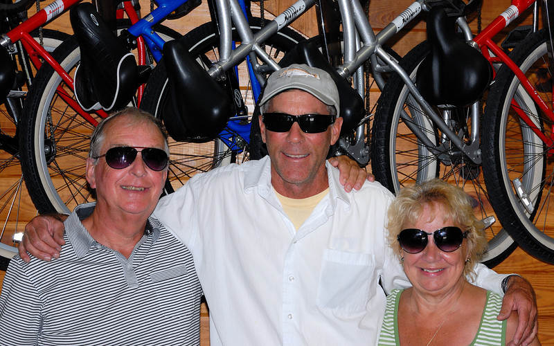 All the way from Europe to rent bikes! Hi Barry and Joan!