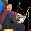Billy Jonas puts on special ddrumstick laden shoes for his performance.<br /> <br /> Photo by Chris Rourke