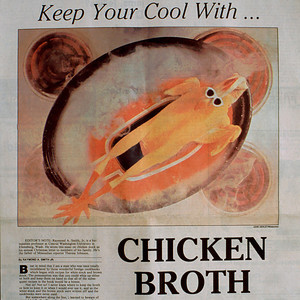 Chicken broth illustration