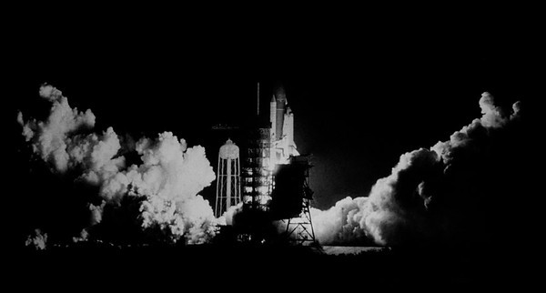 First night time space shuttle launch