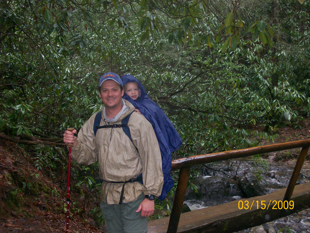 My son Trenton along for the ride to Abrams Creek Falls. GSMNP