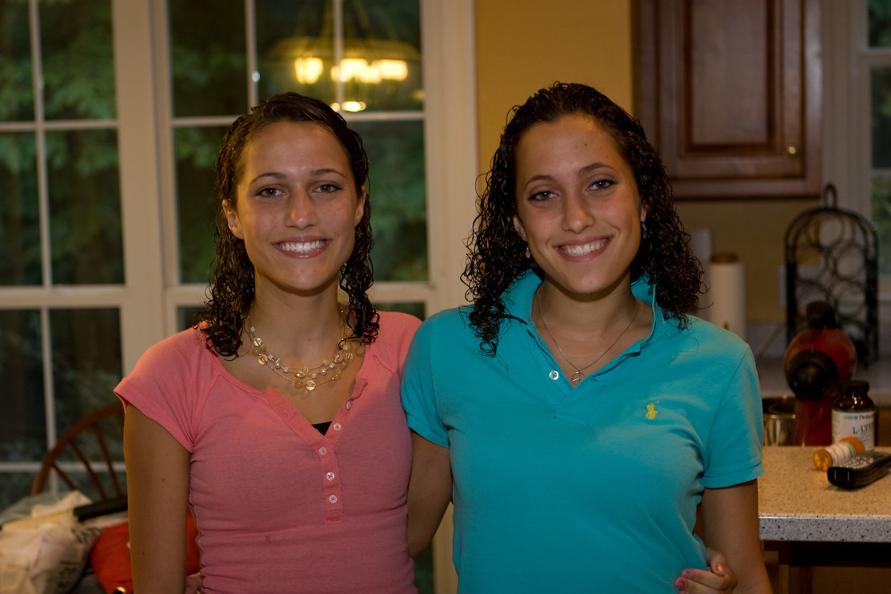 Daughters Stephanie on the right and Erika on the left are both at Va Tech.
