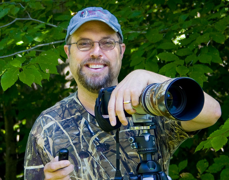 My name is Joe Piotrowski and I am a bird watcher and amateur Photographer living in Williamsburg,Va. Photography has been a hobby since I was developing film in my closet darkroom in high school 40 years ago. Those days I had a 4x5 Toyo View Camera and was an avid Zone System Nerd. I am glad those stinky, slimy days are over. Film is dead! Now I take my trusty Canon 30D(now Mark III) with 4.5-5.6L IS 100-400 Zoom and Tripod(with cable release-some things never change) into the wilds and capture information. I use my dual monitor computer and the many Adobe programs (Lightroom and CS2 the most) to transform poor technique into art.  Golly Gee, I guess I'm still a nerd-some things never change.