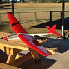 The electric Windrifter at Penrith Electric Model Aircraft Club's Hart Field at Emu Plains.. Sadly I snapped the wings off the old girl and the fuselage plummeted to the ground while the wings fluttered down. The remains were ceremoniously binned. RIP.