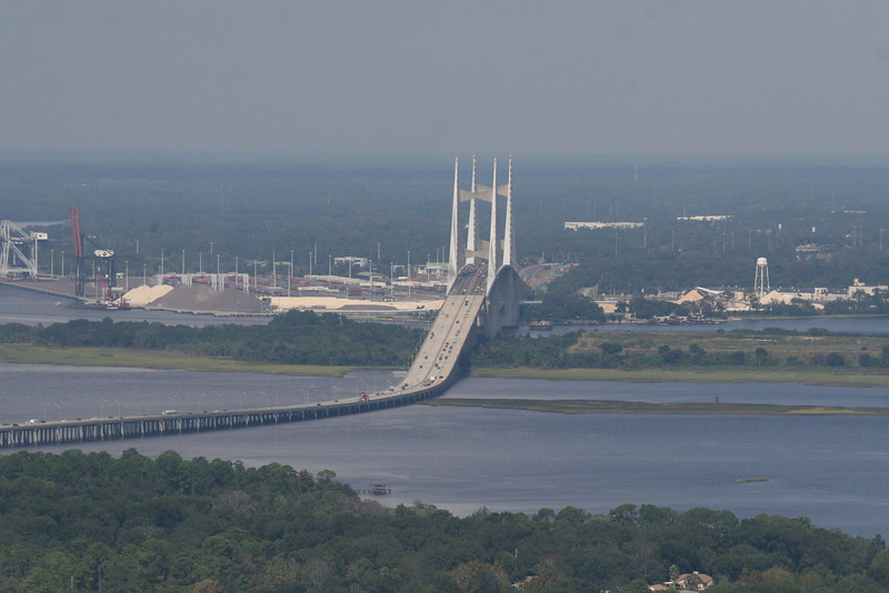 Looking north towards the Dames Point Bridge.