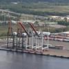 Cranes at the port.
