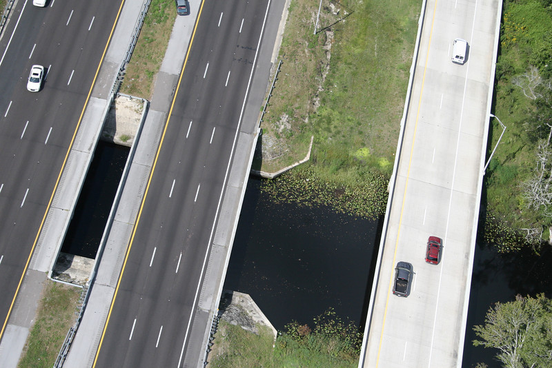 Ortega River as it runs under I-295.