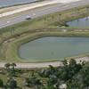 Algae (?) in retention pond on Hecksher Drive.