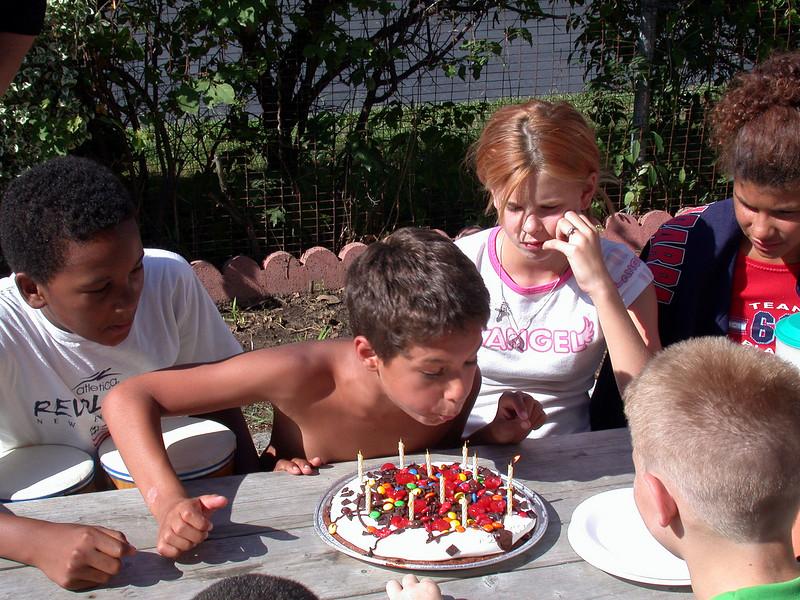 Nicholas turns 11. He makes a wish.