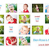 """fifteen smiles""<br /> <br /> This 5x7 card can be used as a birthday invite or a thank you card and comes with white envelopes. All text can be customized. Two rounds of card reviews/editing prior to printing are included in the price; additional reviews/edits are $15 each. Minimum order of 25 cards; cards can be ordered in any increment after the 25 unit minimum is met.<br /> <br /> This card is offered in two formats:<br /> - single sided (printed on lustre photo paper): $1.25 each<br /> - double sided (printed on linen card paper): $1.75 each (the double-sided cards have a color coordinated backing where an additional picture can be placed, additional text can be added, space for handwritten notes can be provided, etc.).<br /> <br /> Samples of both formats are available for viewing at the studio."