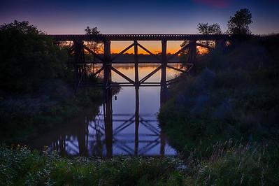 Railroad bridge near Fort Abraham Lincoln