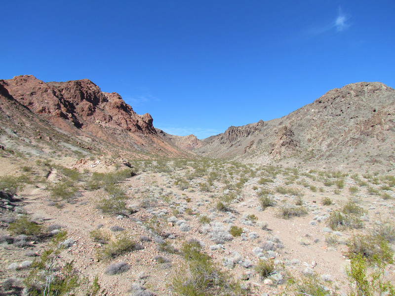 Red Mountain on the left and Black Mountain on the right.