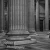 Columns inside the Pantheon, Paris France