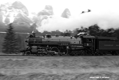 Canadian pacific Hudson 2816 eastbound nearing Banff, Alberta