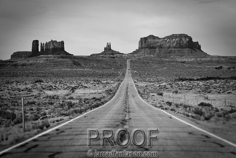 Entering Monument Valley Utah