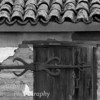 Detail on old building in Pacific Grove, Ca