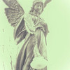 Lexington Cemetery Angel At Christmastime