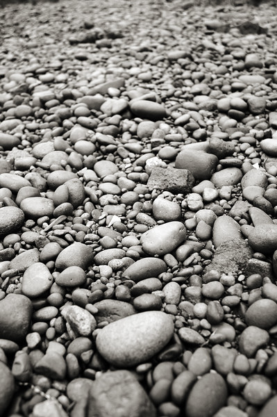 Rocks and pebbles on a beach - Stock Image by Professional Nature Photographer Christina Craft