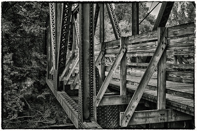 Old trestle bridge on the Kokosing Gap Trail near Gambier, Ohio.