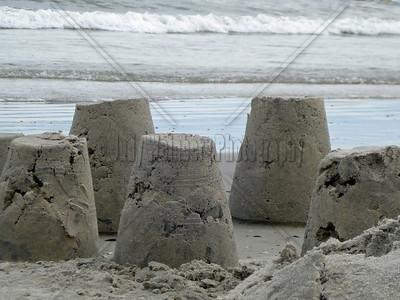 Sand Buckets - Not really B&W
