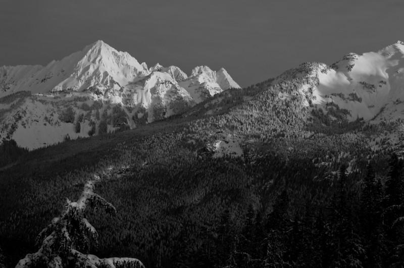 Cascade Peak in Winter<br /> Mt. Baker-Snoqualmie National Forest