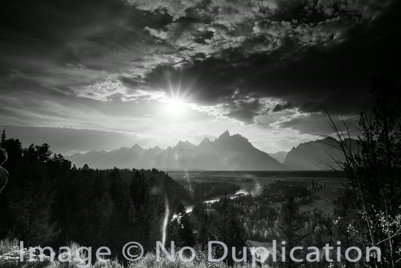 The Teton Mountains from the Snake River Overlook