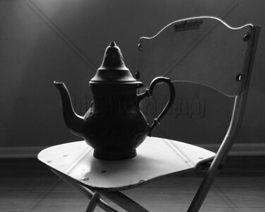 Tea Pot on Little Chair Close Up