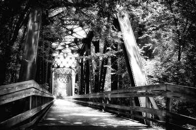 Trestle bridge northeast of Gambier, Ohio on the Kokosing Gap Trail.