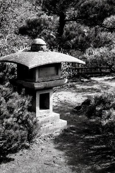 Lantern<br /> Japanese Garden, Portland OR