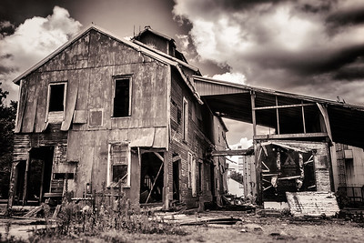 The old feed supply building in Butler, Ohio.