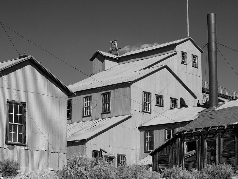 Mine buildings in Bodie, California