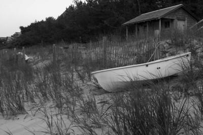 Rowboat on shore