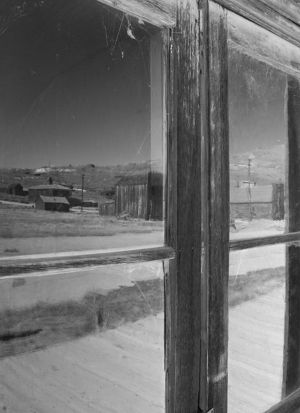 Reflection off store window in Bodie California