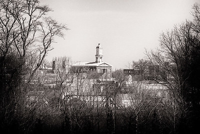 Shot of Knox County Courthouse from Ariel Foundation Park in Mount Vernon, Ohio on March 26, 2016. Photographed by Joe Frazee.
