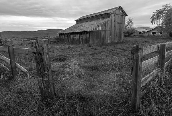 The barn at the corner.