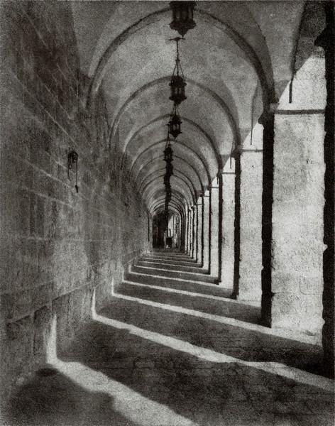 Temple Mount Corridor, Bromoil