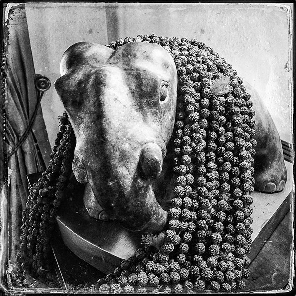 Elephant With Beaded Necklace