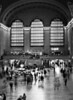 The interior of the main hall of the Grand Central train station in New York City. (Scanned from black and white film.)