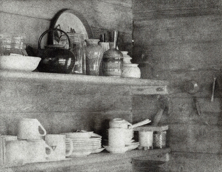 Kitchen Still Life, Bromoil