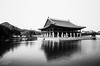 The Kyeonghoe-ru pavilion is part of the Gyeongbok palace complex in central Seoul in South Korea. This building is located in the middle of a small lake.