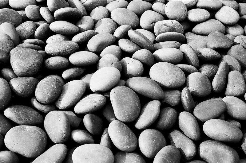 Black Stones In Garden